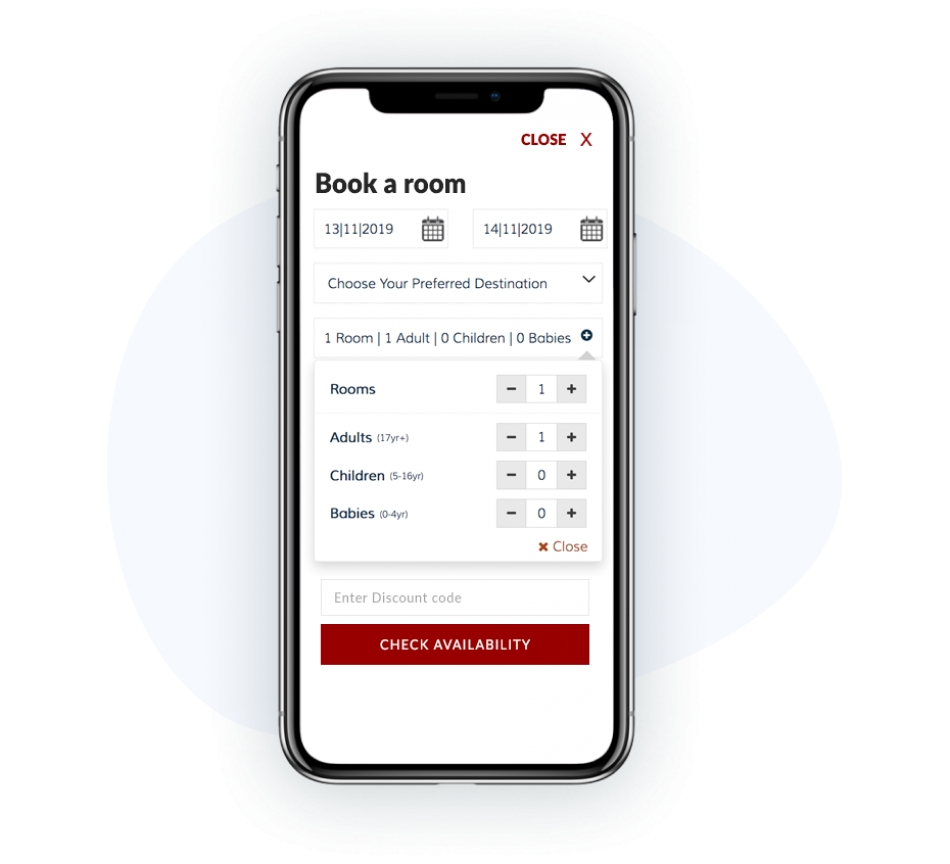 Mobile-friendly booking process