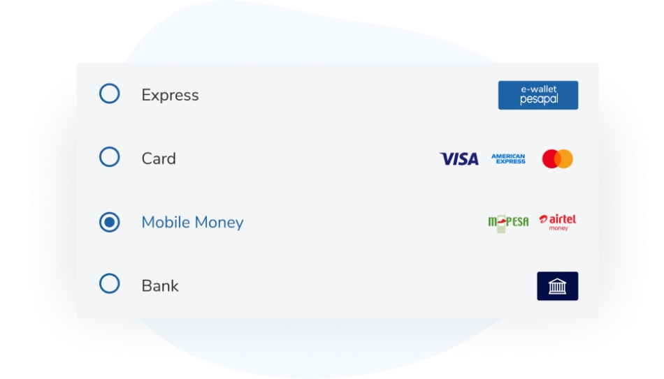 Comprehensive payment options